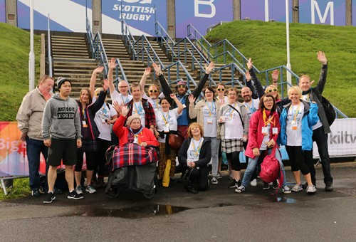 Team LinkLiving at the 2018 Edinburgh Kiltwalk